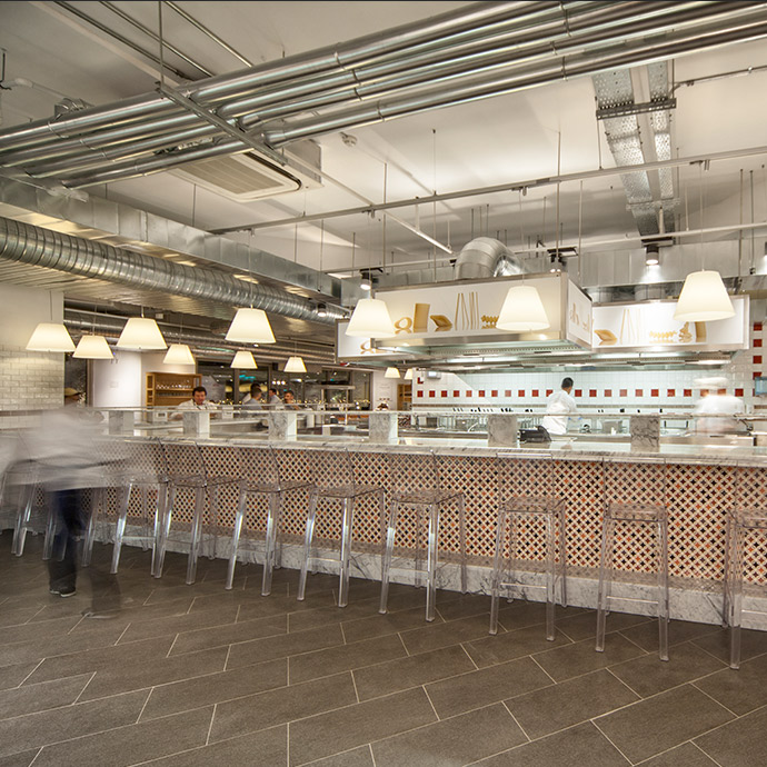 Eataly Zorlu Center Istanbul Le Cucine di Eataly luxury fit out Turkey